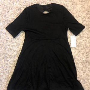 TOBI - Black skater dress with open back